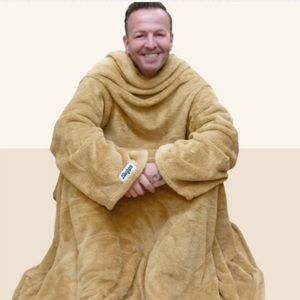 Tan/black fleece Slanket